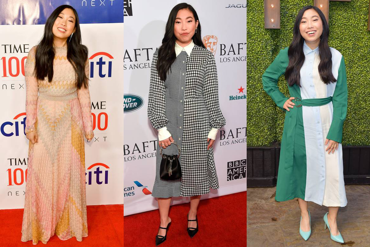 Awkwafina Red Carpet Dress Style