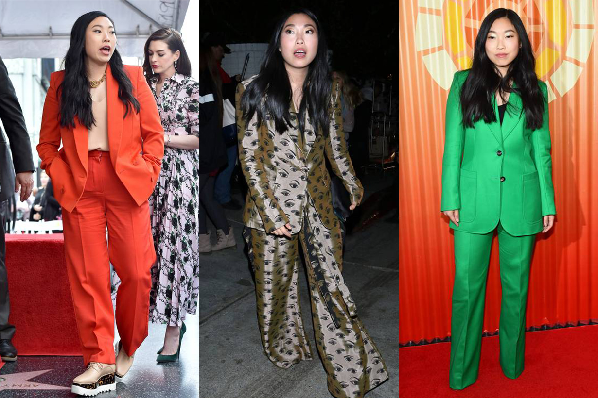 Awkwafina wearing suit