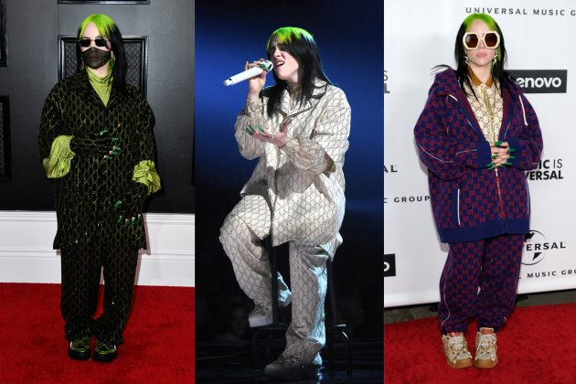 Billie Eilish grammys red carpet gucci look