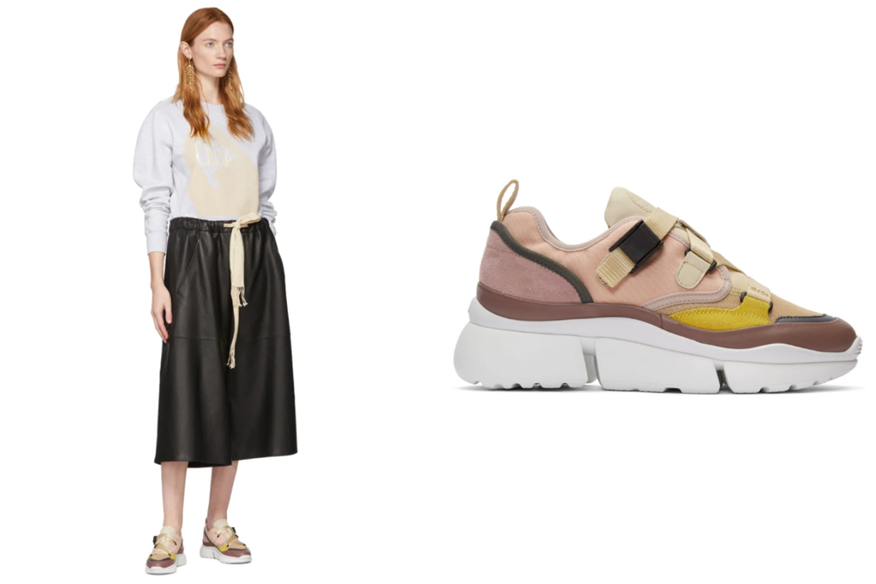 Chloé Pink Sonnie Sneakers