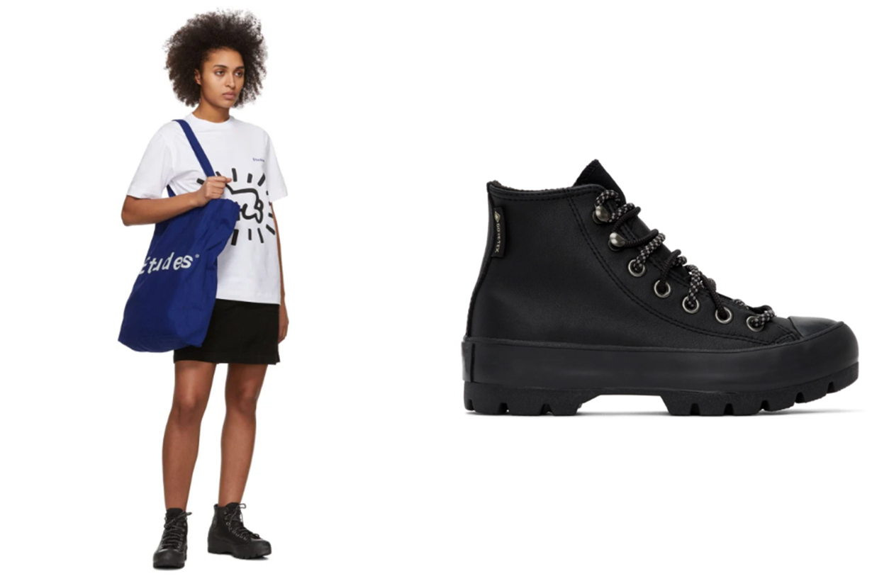 Converse Black Winter Chuck Taylor Lugged High-Top