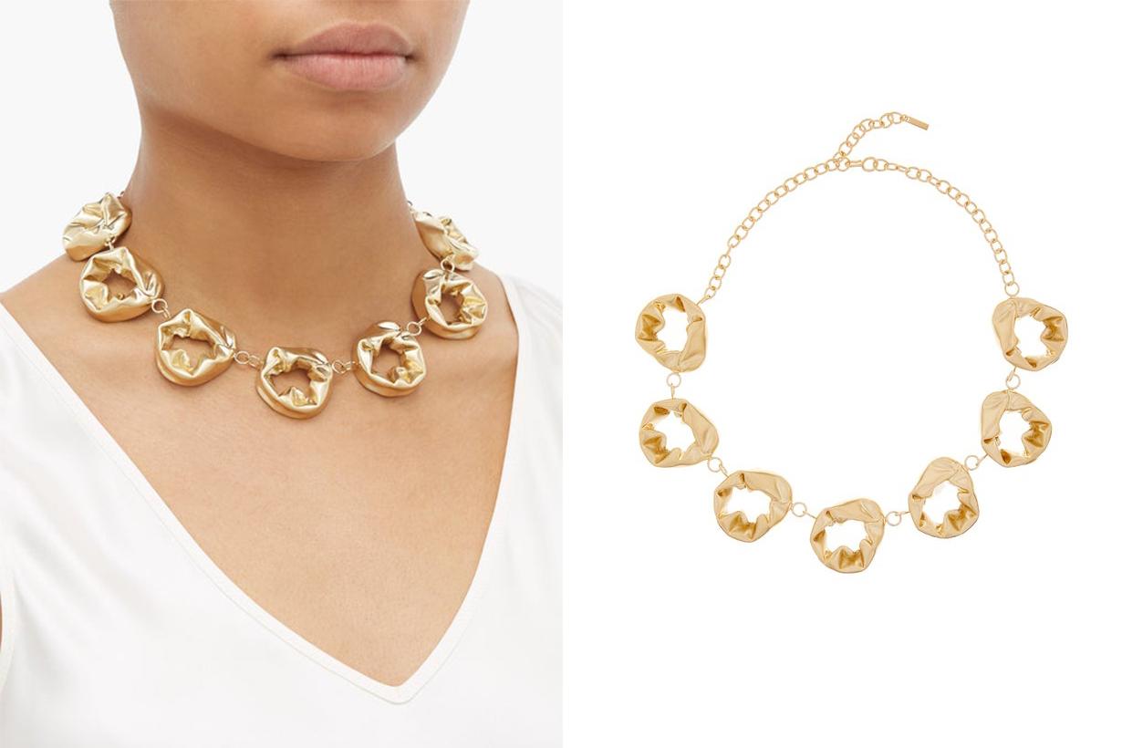 Gold Circle Vermeil Necklace