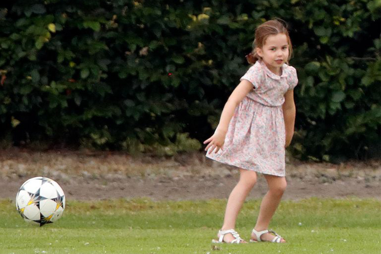 Princess Charlotte Plays Football