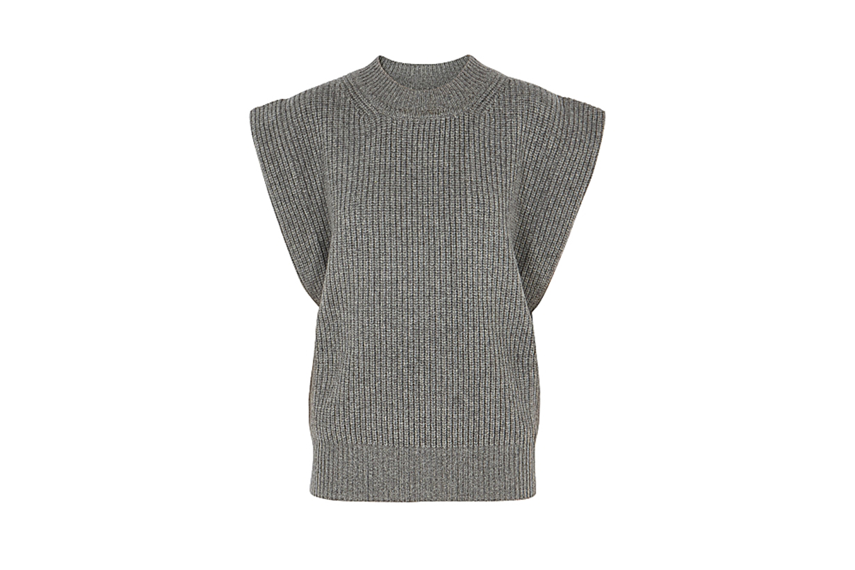 ISABEL MARANT  Bridget grey cashmere and wool-blend tank