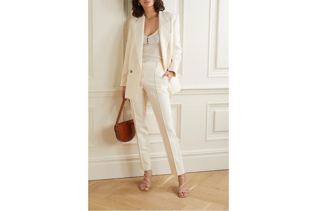 Jame Cotton-blend Straight-leg Pants