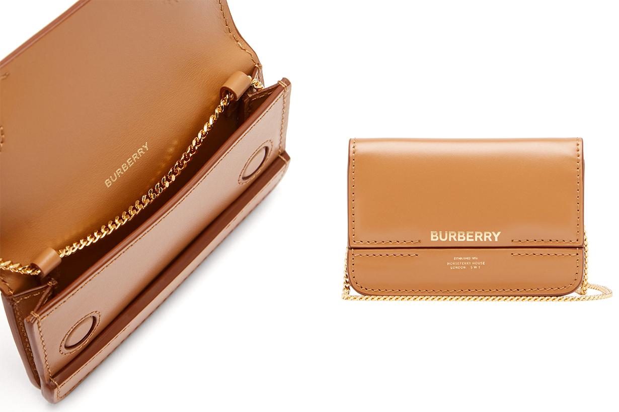 Jody Chain-strap Logo-print Leather Wallet