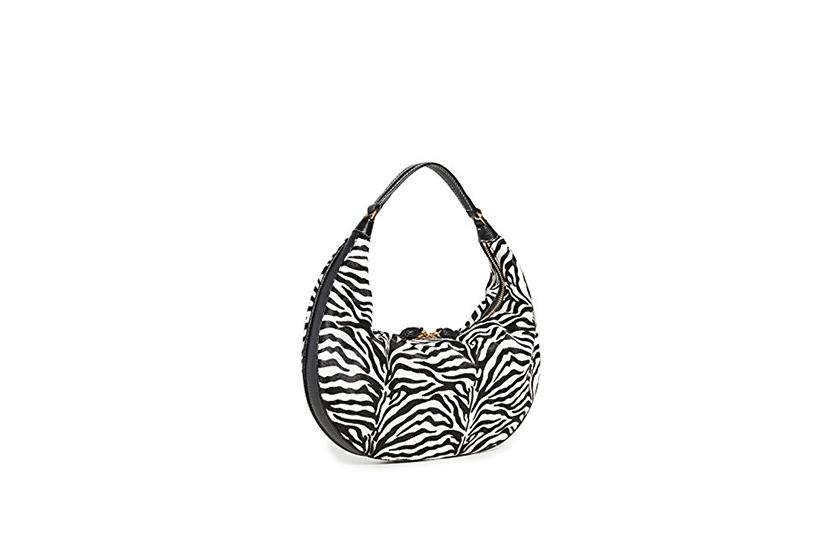 kendall jenner staud zebra tommy bag