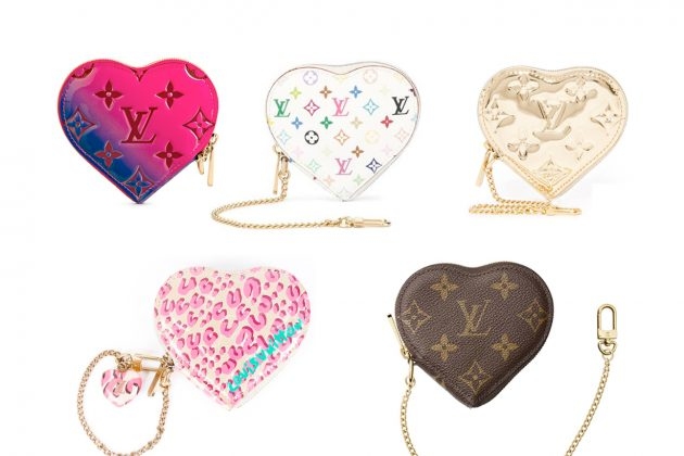 louis vuitton valentines day heart purse coin limited