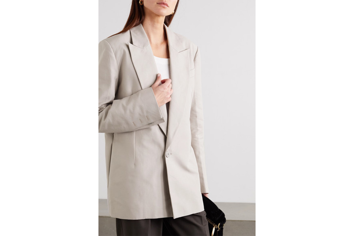 Organic Cotton-twill Blazer