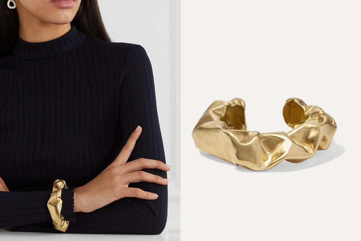 Scrunch Gold Vermeil Cuff