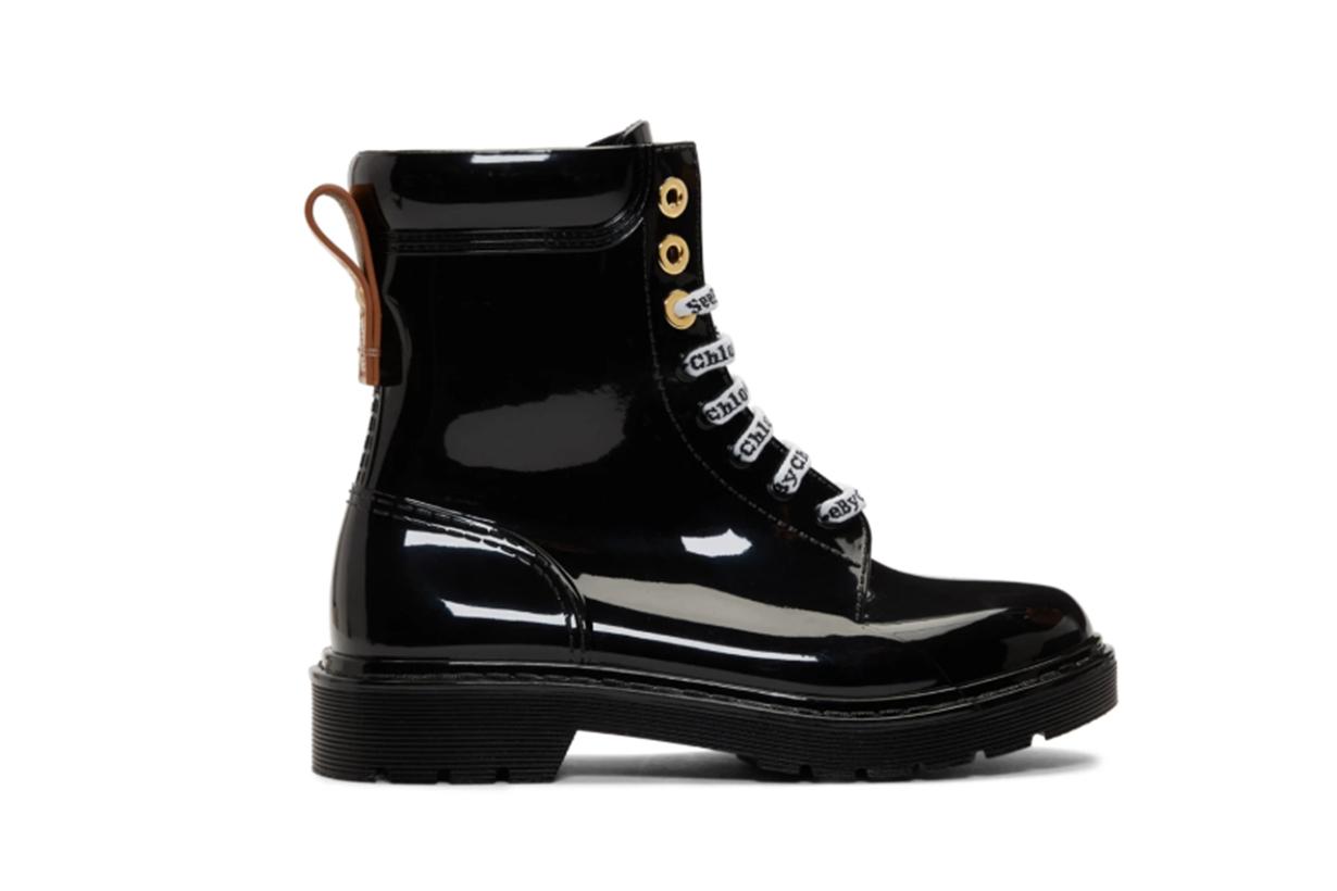 See by Chloé Black Florrie Rain Boots