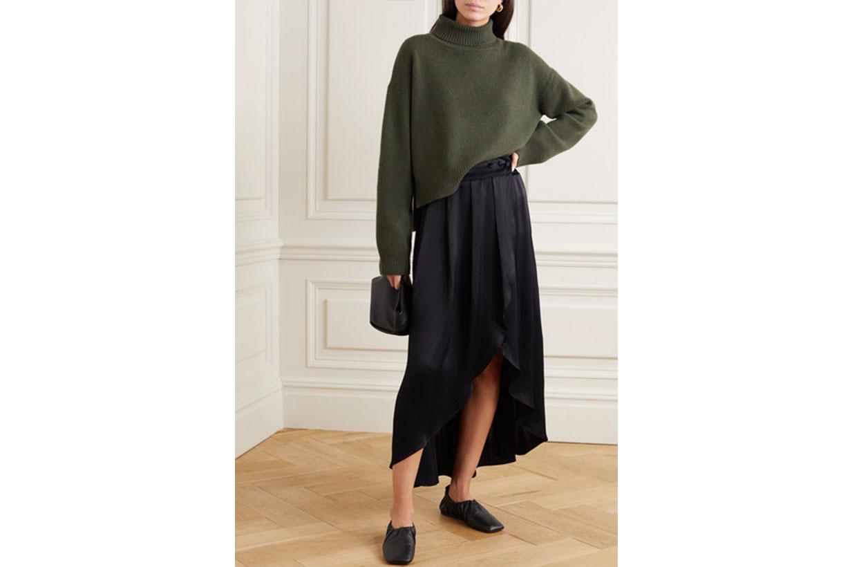 Seminyak Asymmetric Satin Skirt