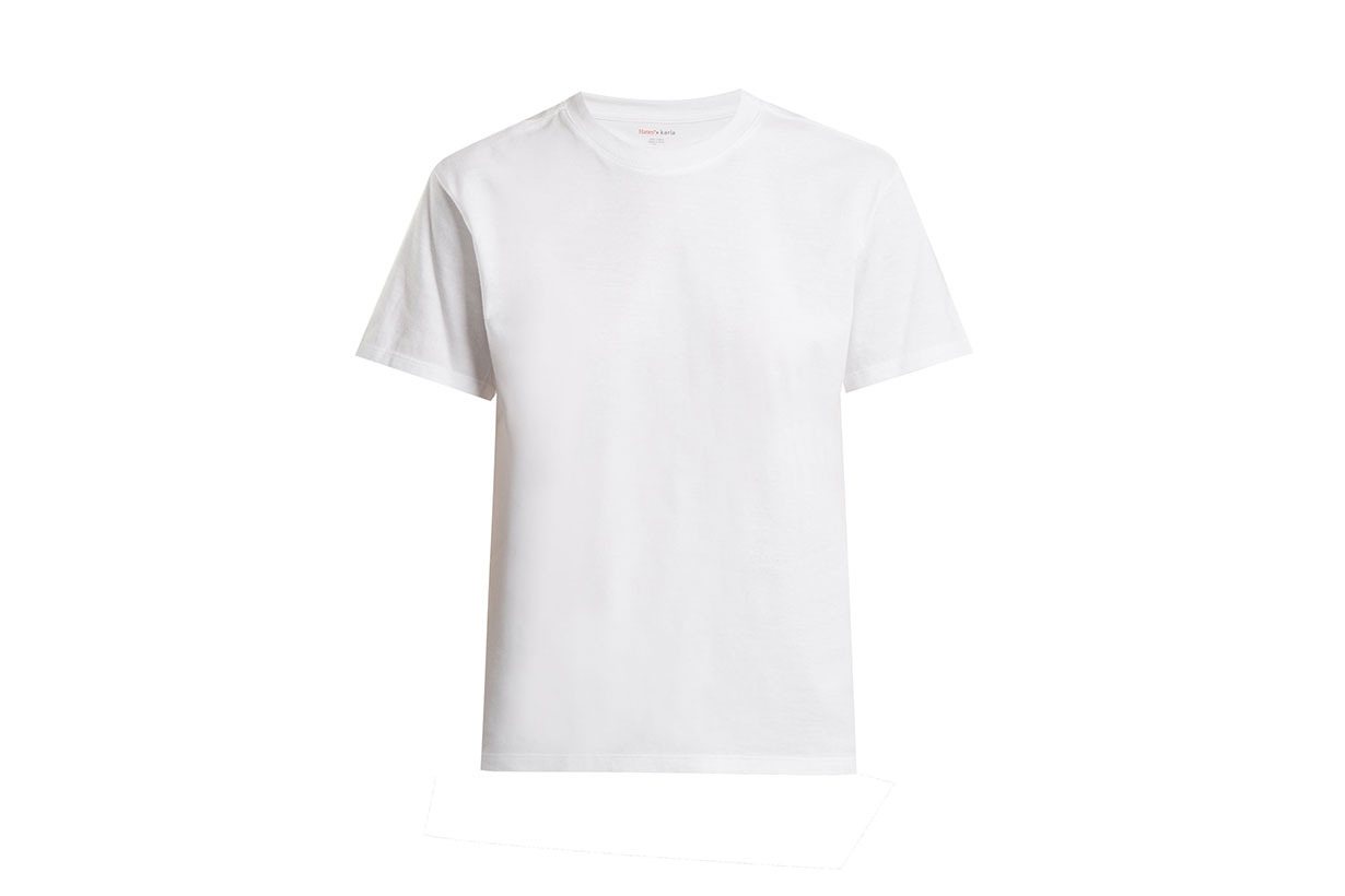 The Crew Cotton-jersey Cropped T-shirt