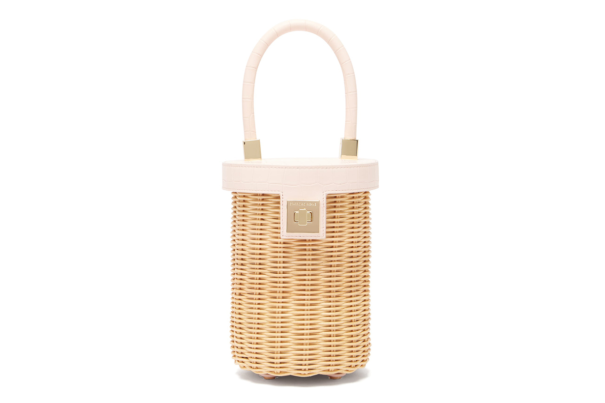 The Cylinder Wicker and Leather Bag