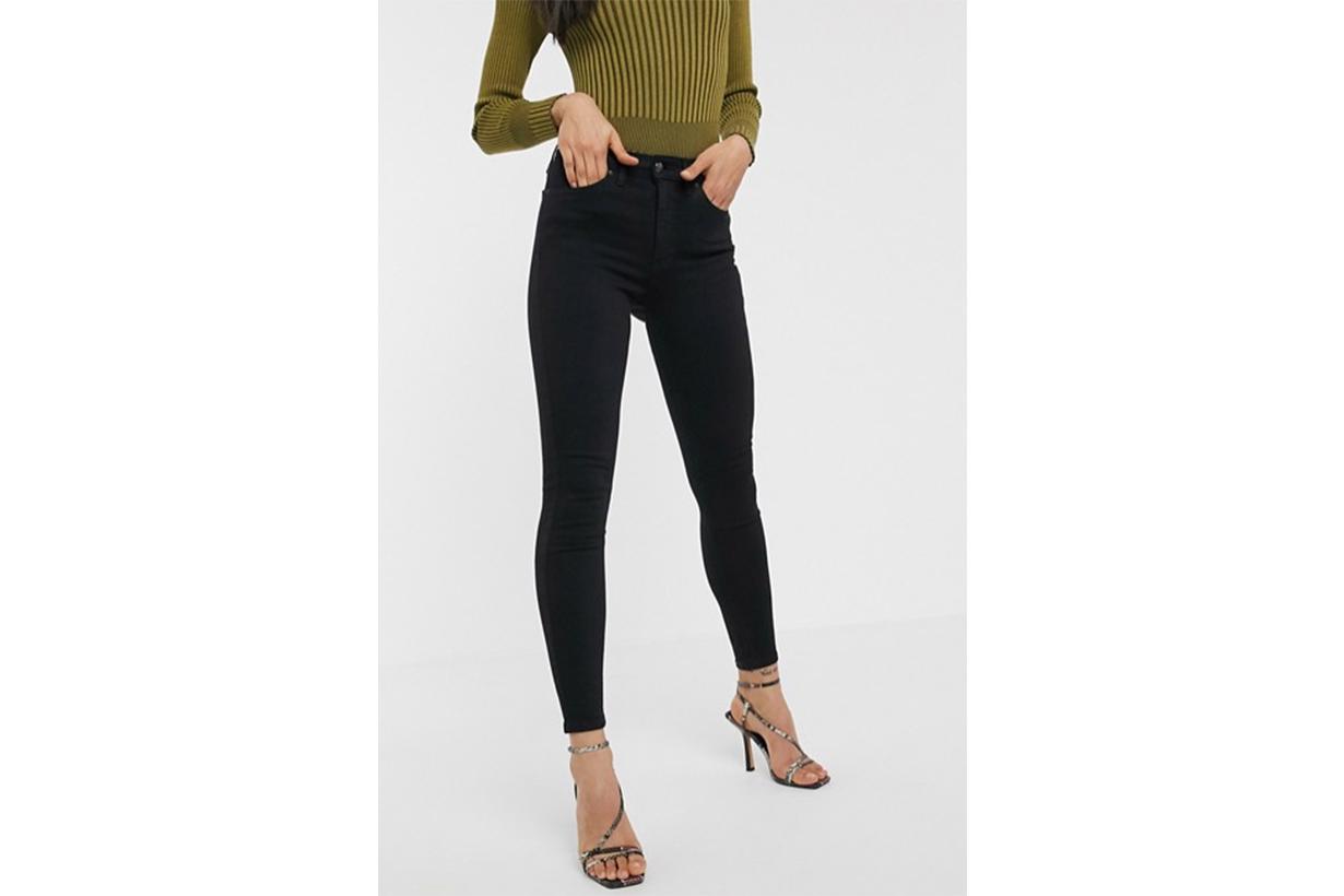 Topshop Jamie Skinny Jeans in Black