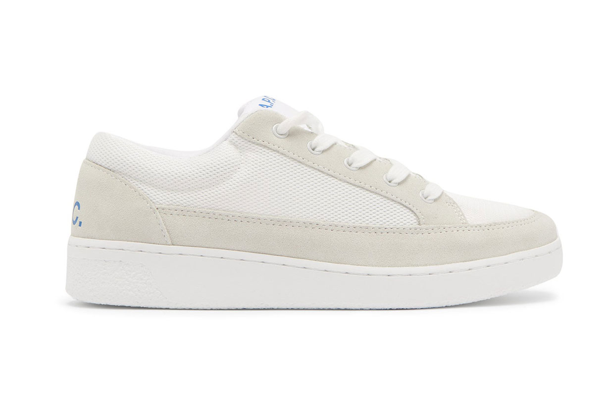 A.P.C. Eddie Suede-trimmed Mesh Trainers