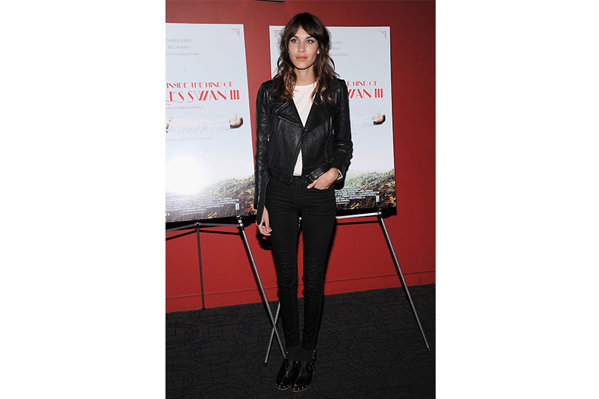 alexa chung denim outfit ideas for 30 plus