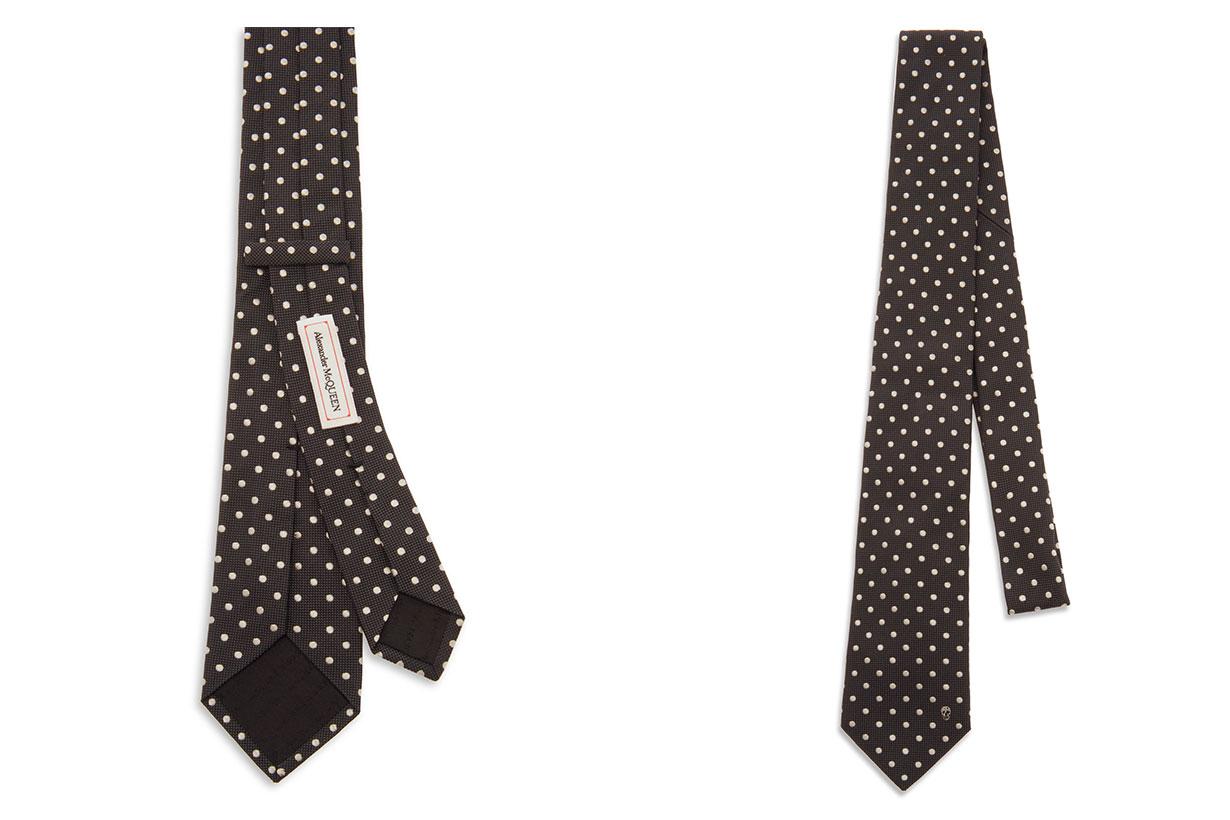 Alexander McQueen Polka-Dot Silk-Jacquard Tie