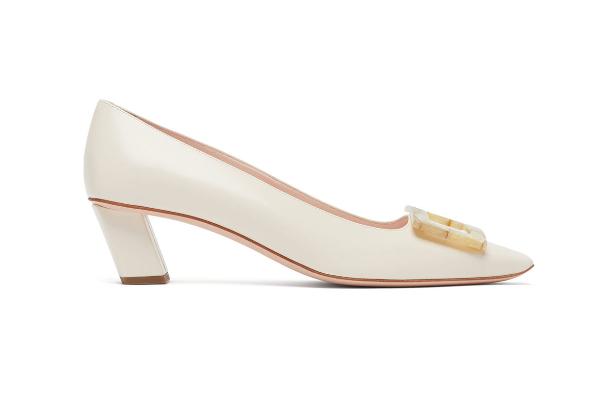 Belle Vivier Motherpearl Leather Pumps