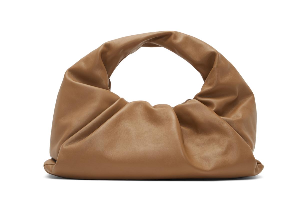Bottega Veneta Tan Small Shoulder Pouch Bag
