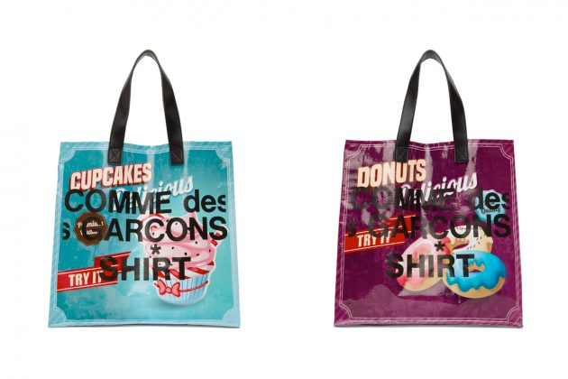 COMME des GARÇONS Shirt shopping tote new cupcakes donuts