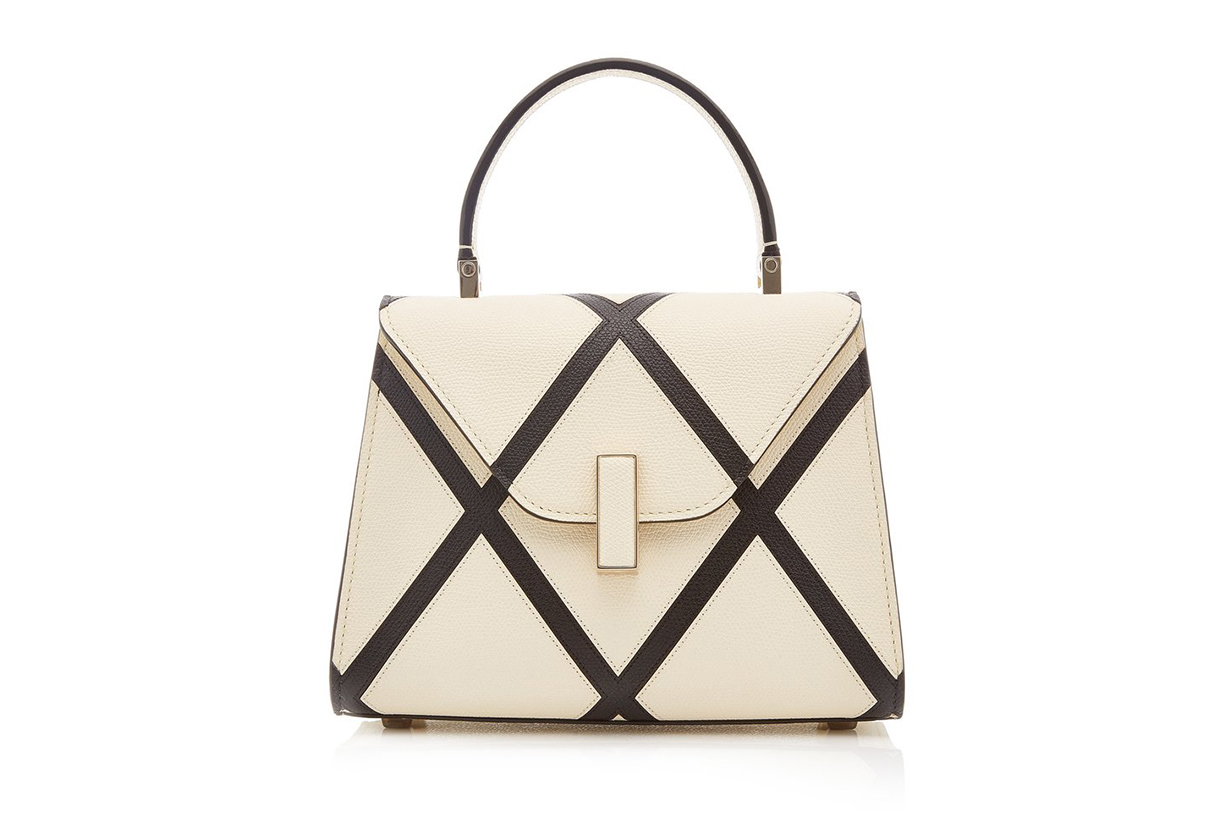 Valextra Iside Micro Two-Tone Leather Top Handle Bag