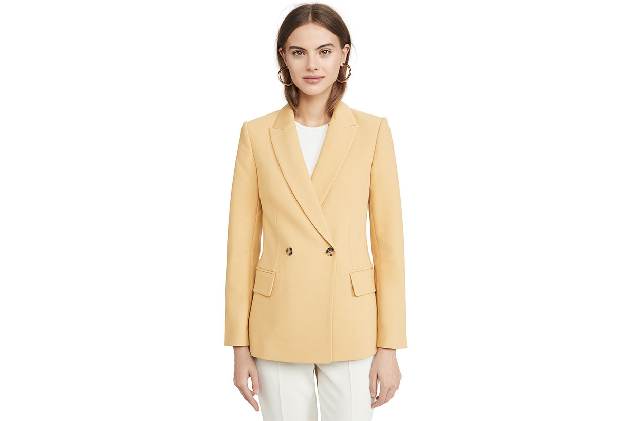 Club Monaco Double Breasted Blazer