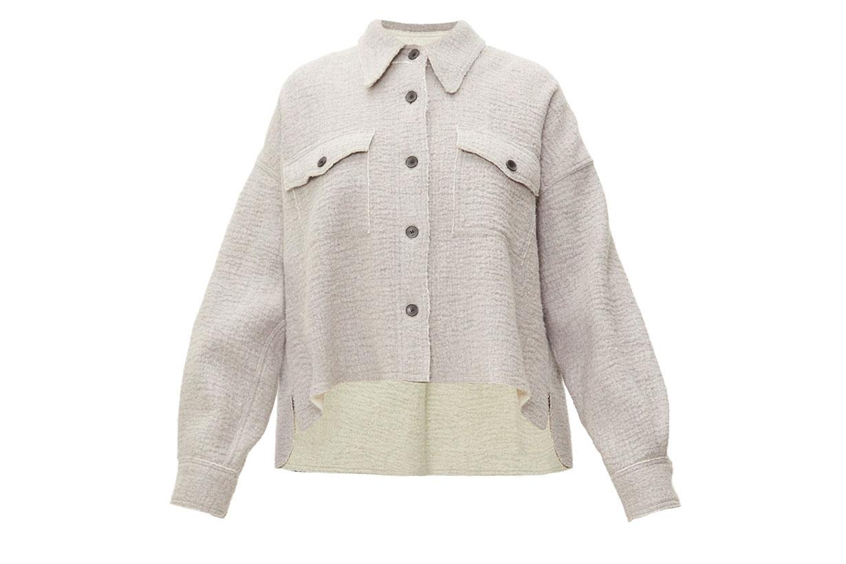 Dennao Point-collar Wool Shirt