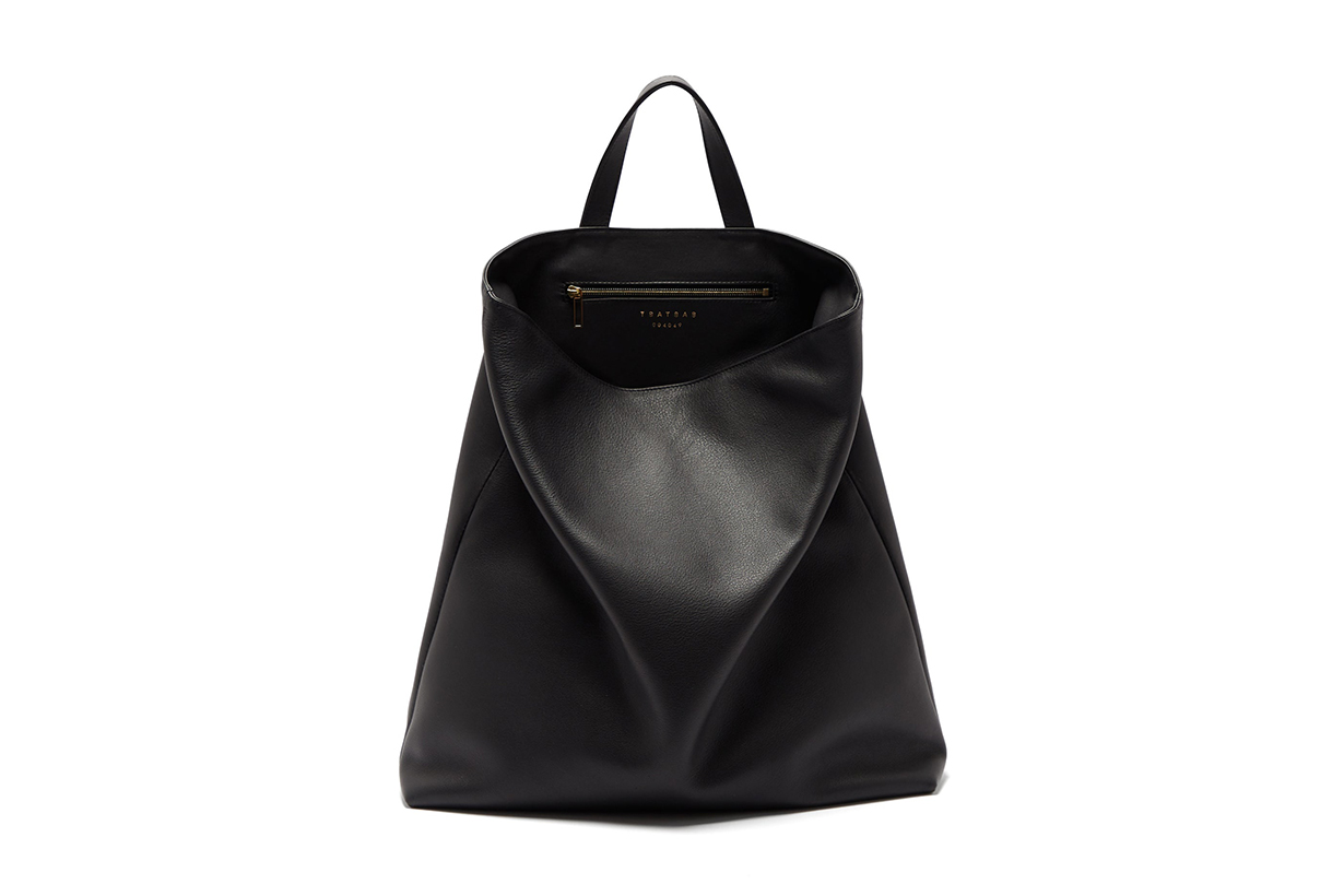 Fluke grained-leather tote bag