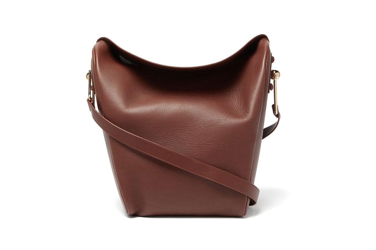 Folded Medium Leather Shoulder Bag