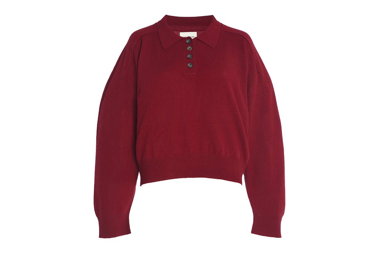 Forana Oversized Cashmere Polo Sweater