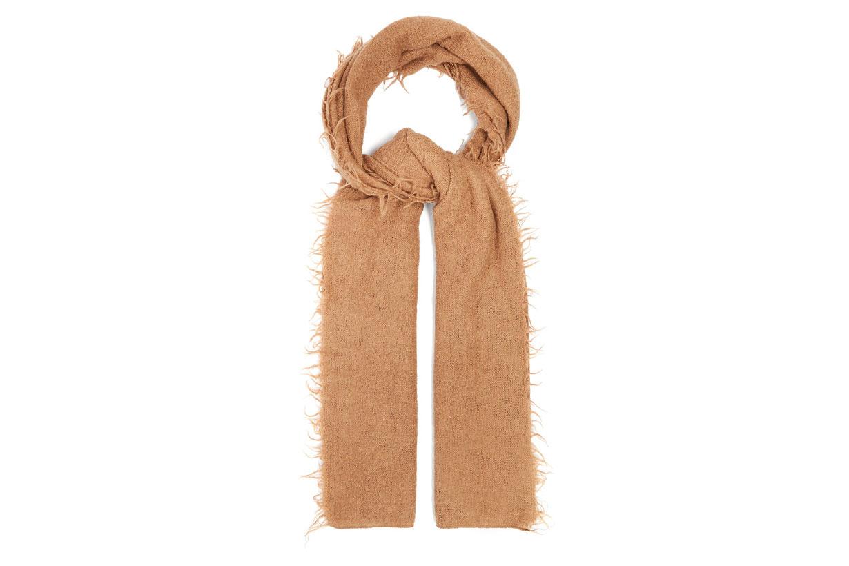 Fringed Baby Alpaca-wool Scarf