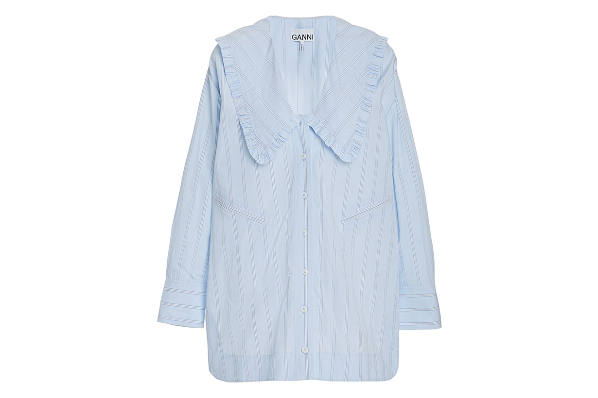 Ganni Stripe Cotton Shirt