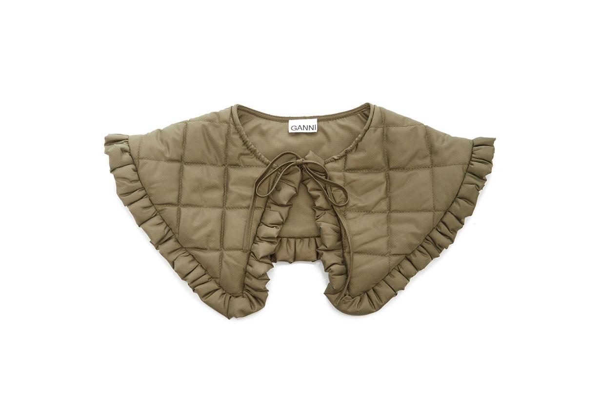 Ganni Ripstop Quilt Collar