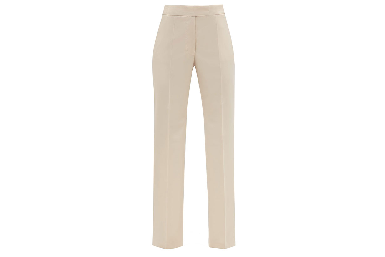 High-rise Front-pleated Wool-twill Trousers