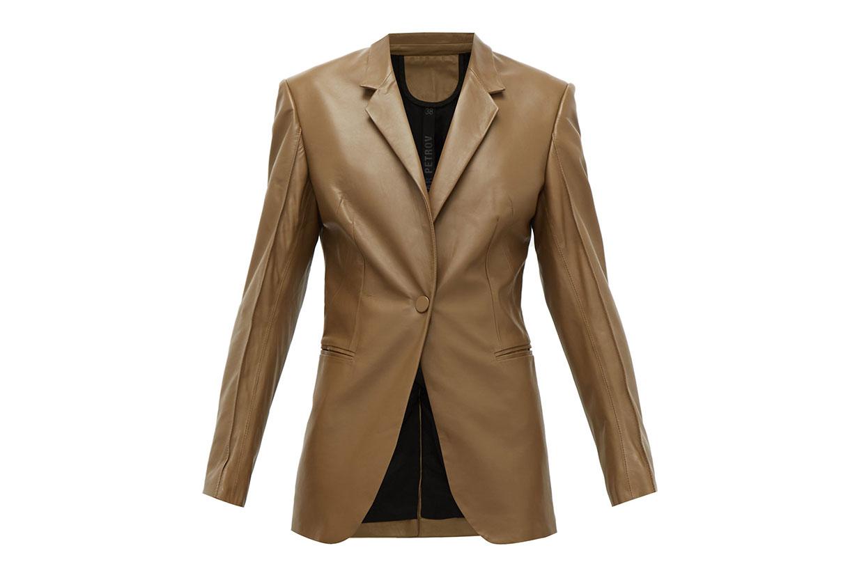 Justus Single-breasted Leather Jacket
