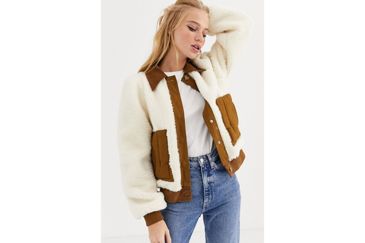 L.F.Markey Lawrence Faux Shearling and Cord Jacket