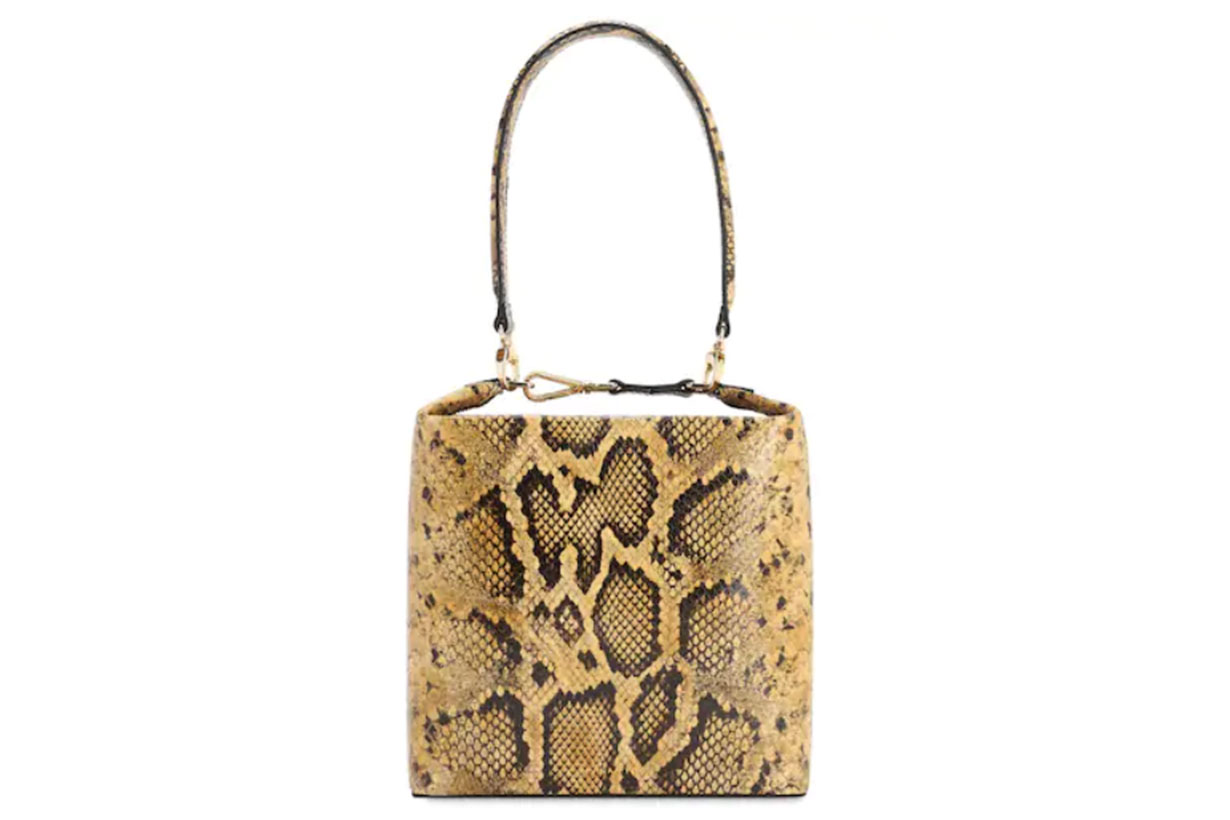 Lucie Python Printed Leather Bag
