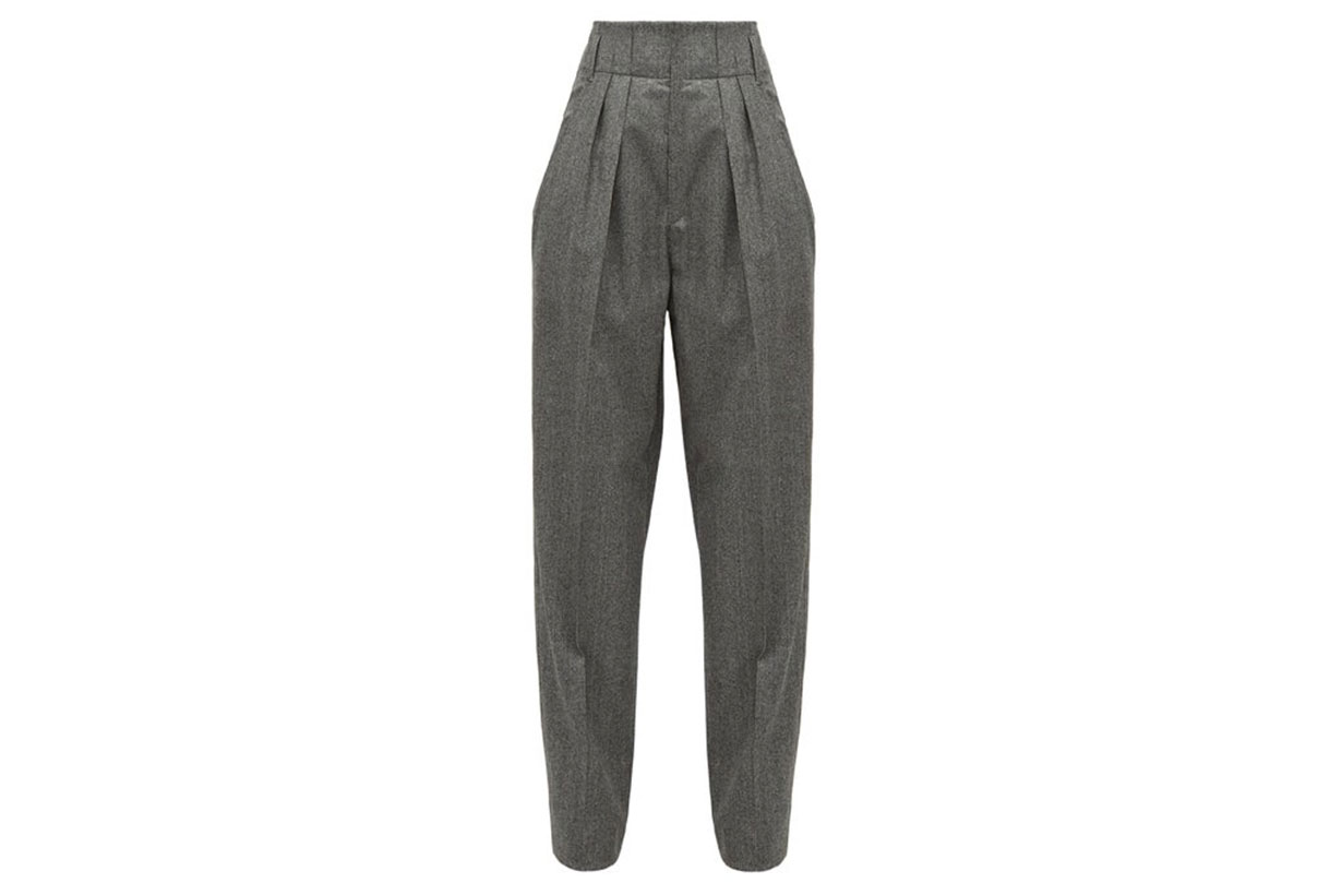 Magali High-rise Houndstooth Wool Trousers