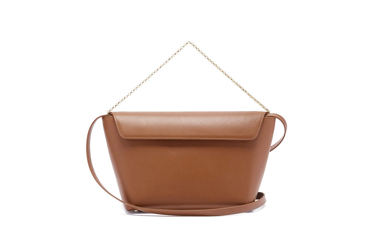 Olive leather bucket bag