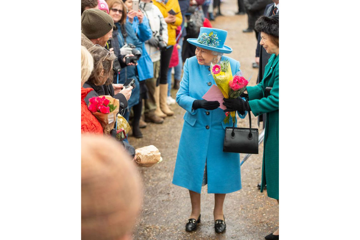 Queen Elizabeth II attended a morning service at Sandringham donning a snowflake-shaped brooch