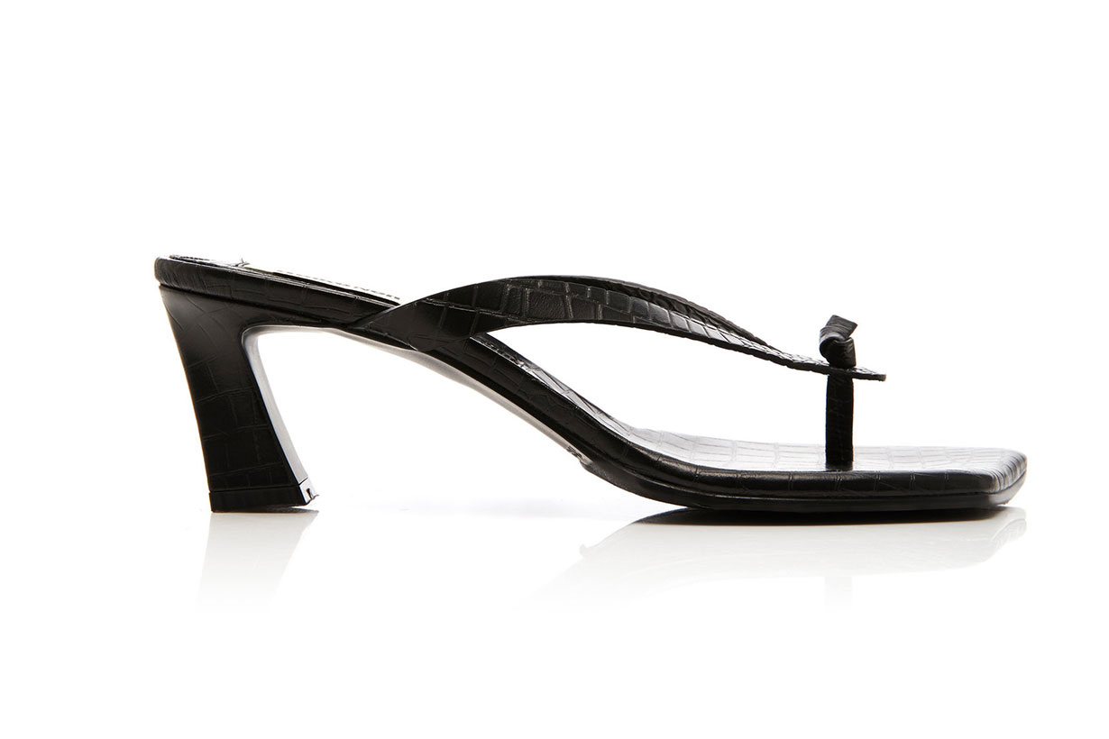 Reike Nen Croc-Effect Leather Thong Sandals