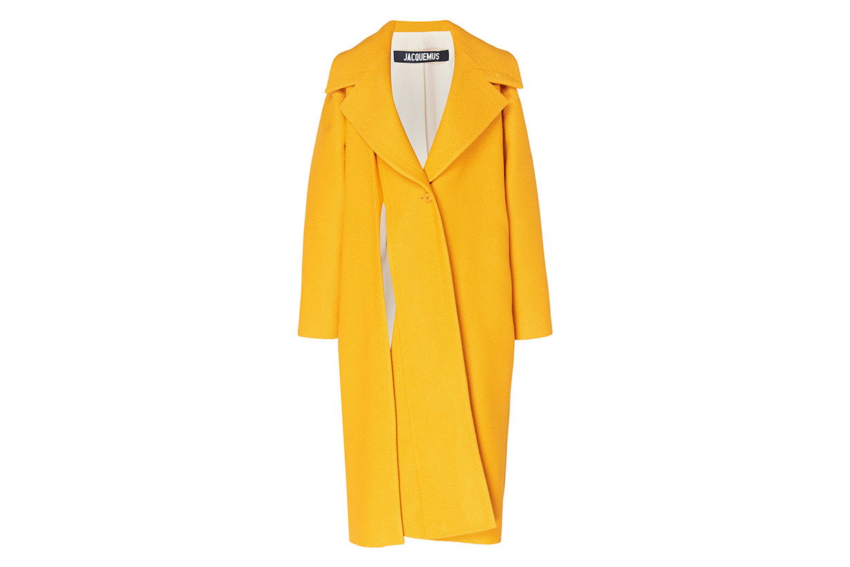 Spliced Cotton And Linen-Blend Coat