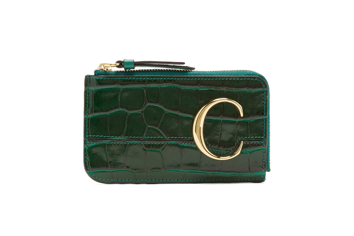 The C Logo Leather Card and Coin Purse