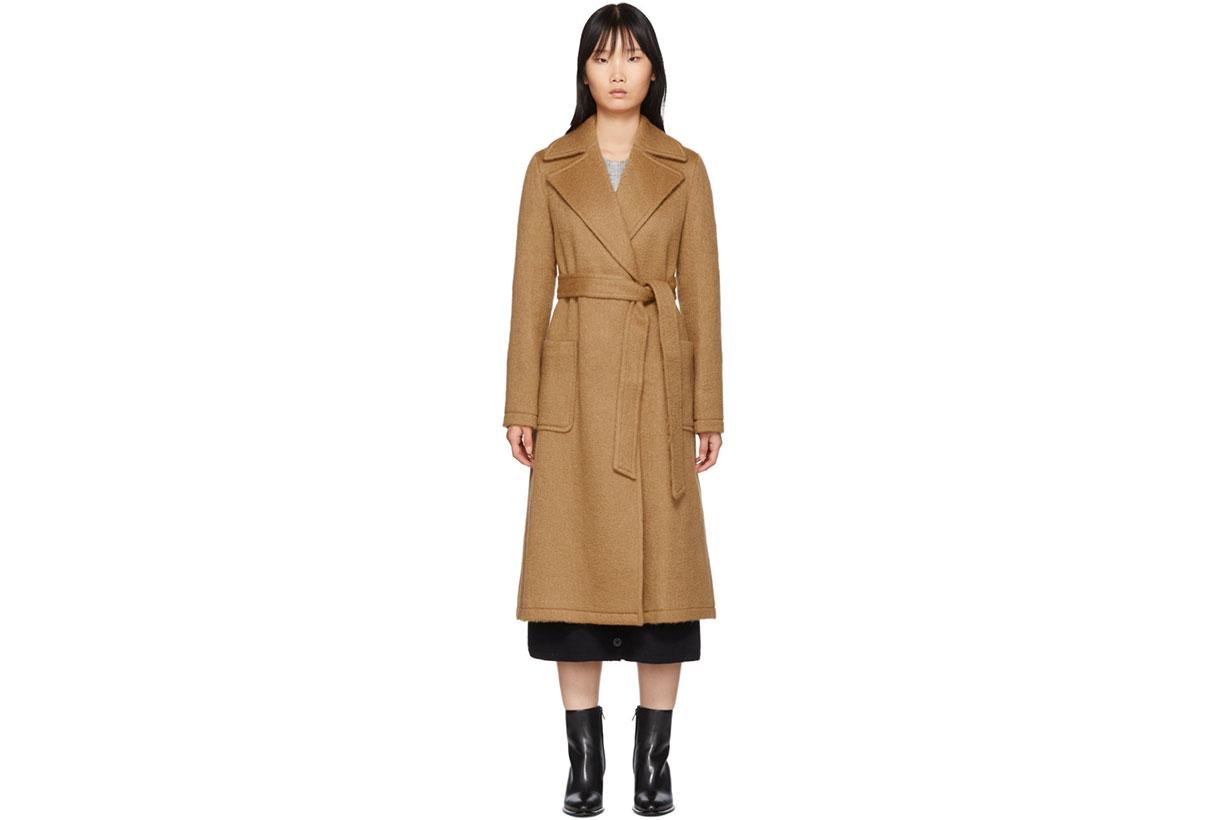 The Loom Tan Mohair & Wool Woven Coat