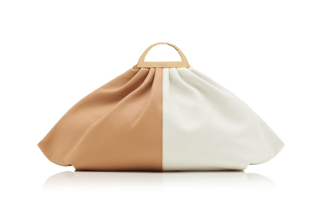 The Volon Gabi Color-Block Leather Clutch