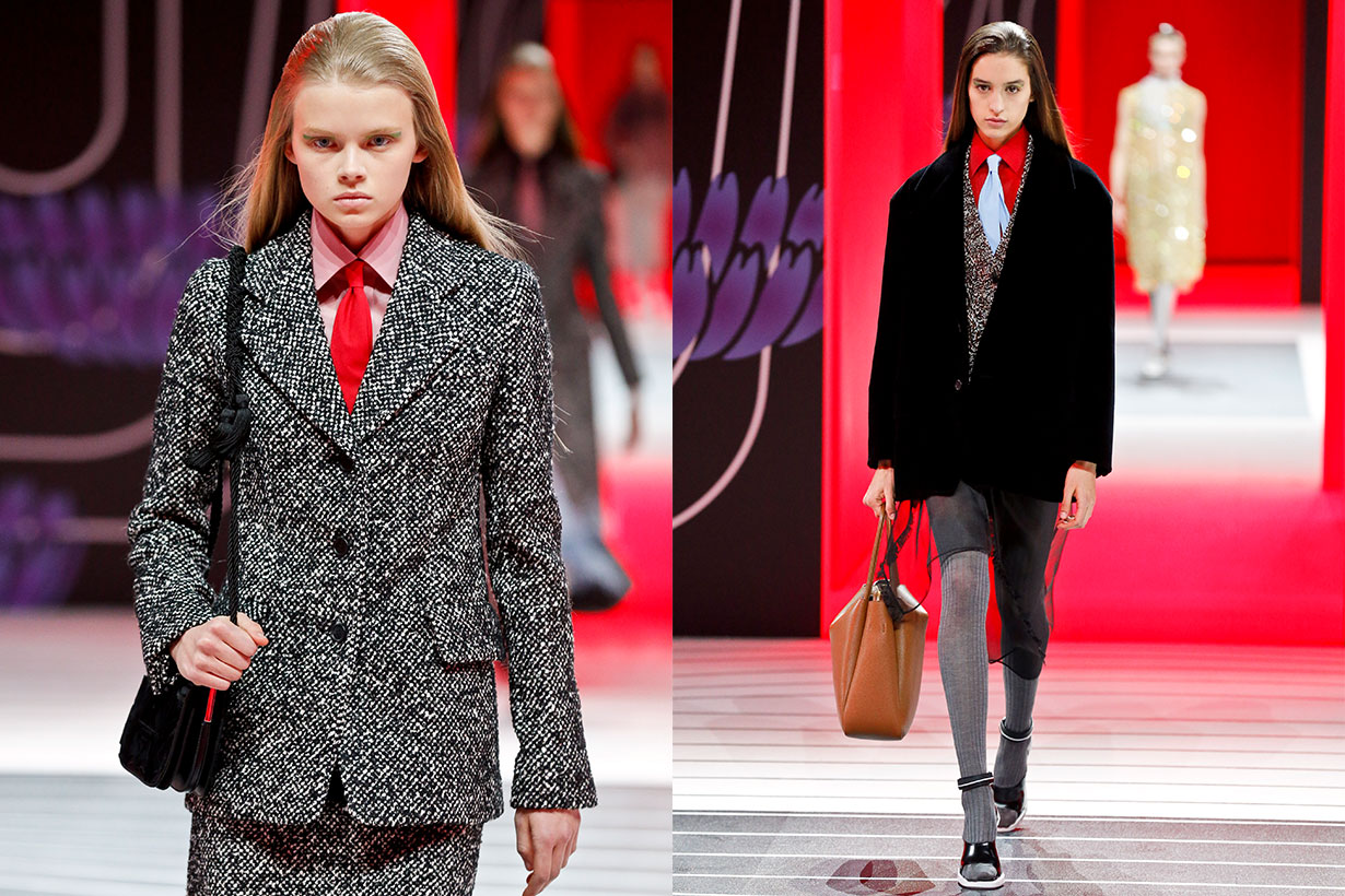 A model walks the runway during the Prada Ready to Wear Fall/Winter 2020-2021 fashion show as part of Milan Fashion Week on February 20, 2020 in Milan, Italy. (