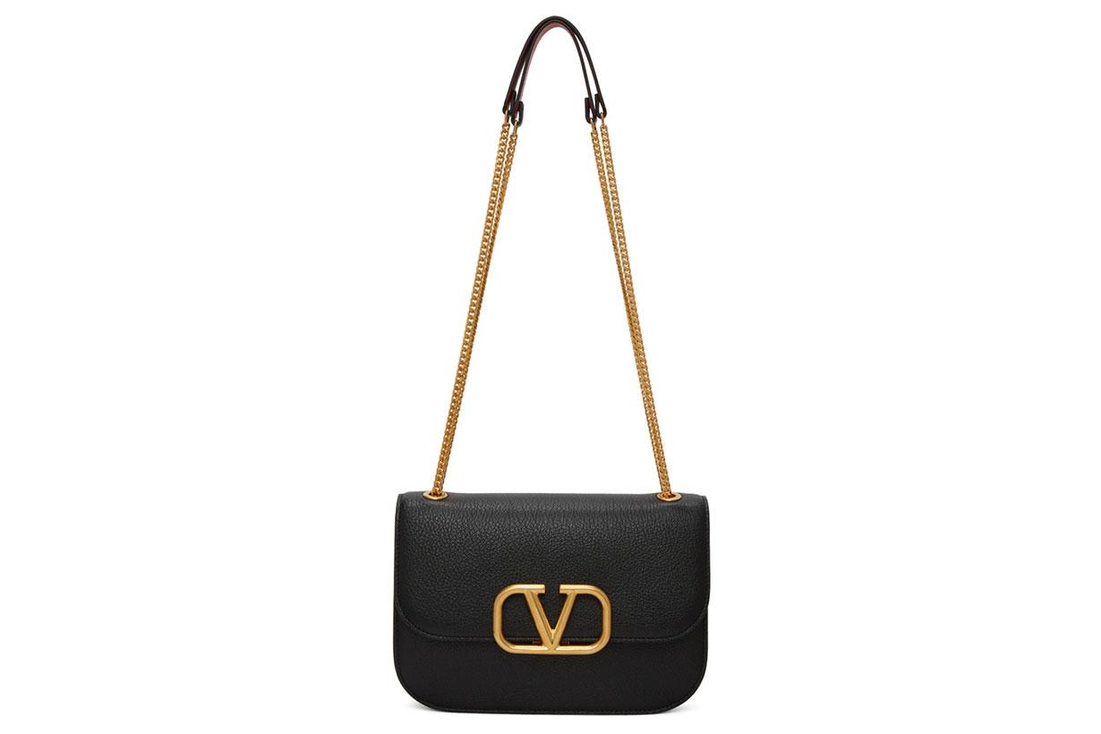 Valentino Black Valentino Garavani VLock Bag
