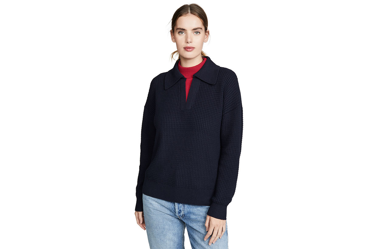 Victor Glemaud Long Sleeve Double Collar Sweater