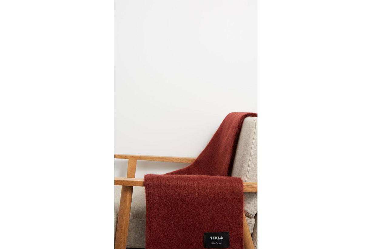 X John Pawson Mohair-blend Blanket